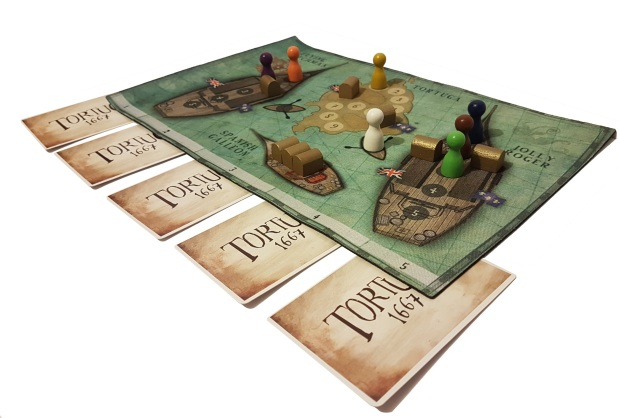 review of Board game Tortuga 1667 in play image