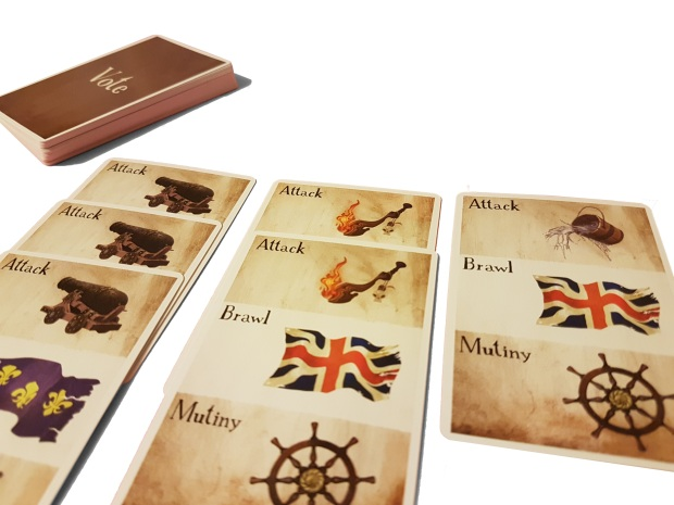review of Board game Tortuga 1667 vote cards
