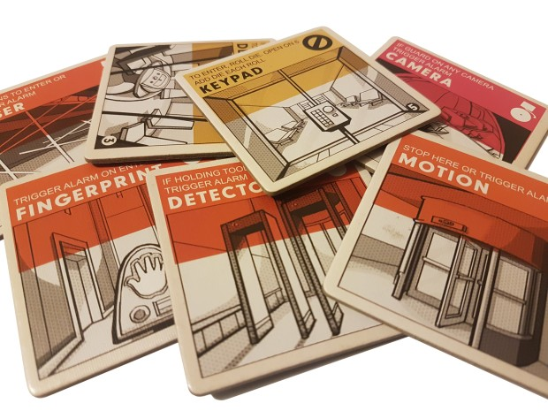 Burgle Bros review image of the alarmed rooms