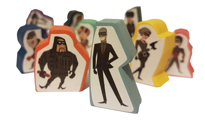 Burgle Bros review image of the the crook meeples