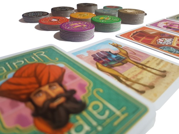 Jaipur board game review in play close up