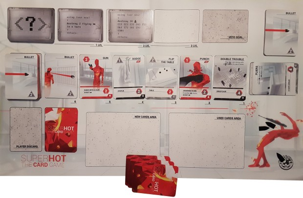 SUPERHOT Card Game review - in play birds eye view