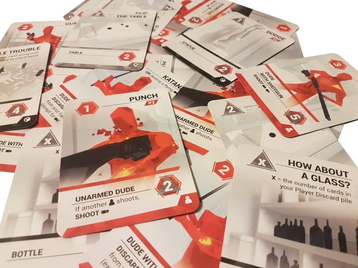 SUPERHOT Card Game review -Obstacle Cards