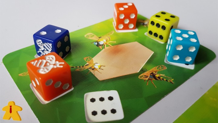 Waggle Dance Review Close Up Images of Card A