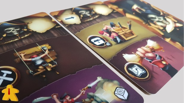 Dead Mans's Doubloons Review Action Cards Close Up