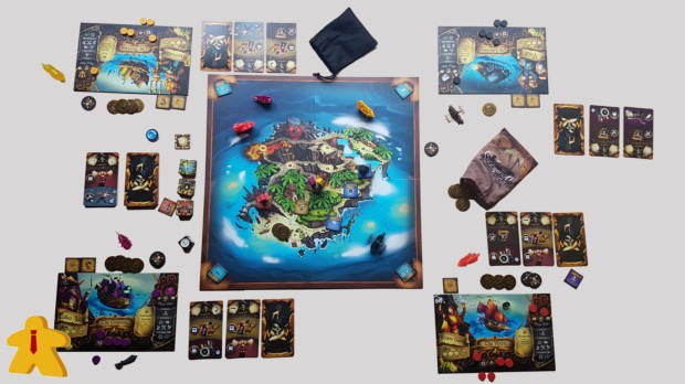 Dead Mans's Doubloons Review In Play From Above