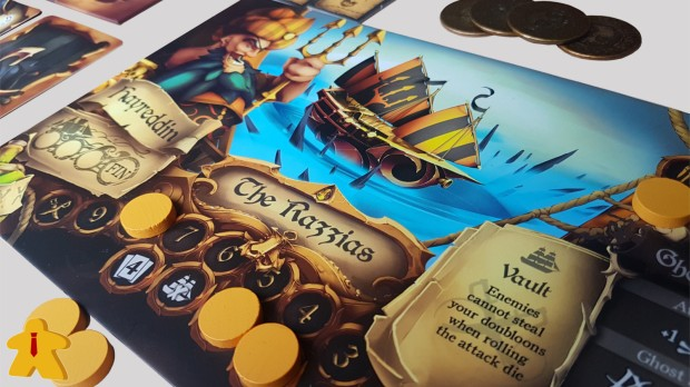 Dead Mans's Doubloons Review Player Board Close Up