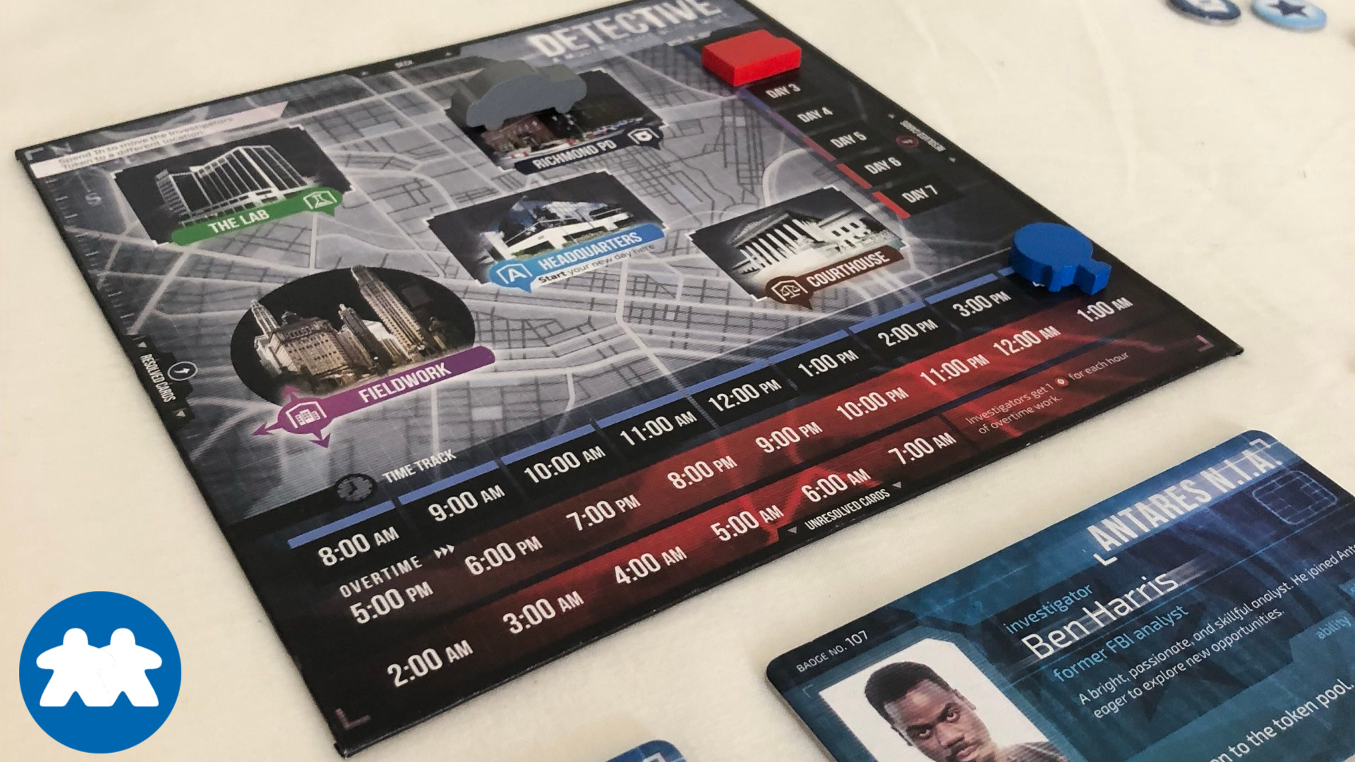 Board Meetings Review of Detective: A Modern Crime Board